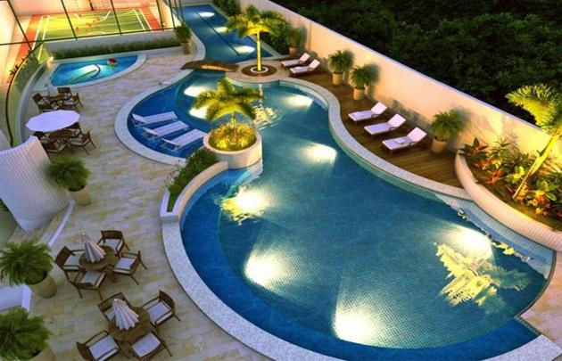 Inspirações para a iluminação de piscinas